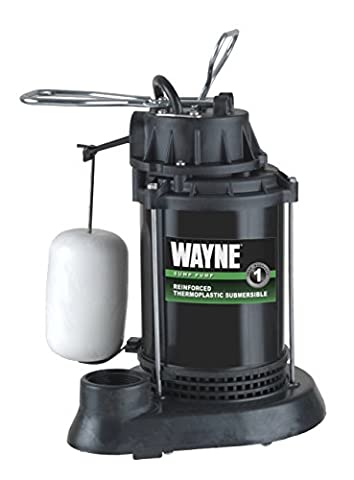 WAYNE WATER SYSTEMS - Submersible Sump Pump With Vertical Switch, Thermoplastic, 1/3-HP Motor