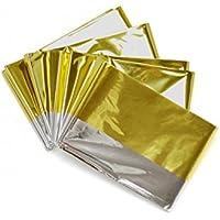 Pharmapiu - Manta isotérmica dorada y plateada de 160x 220cm, protege del frío y del calor