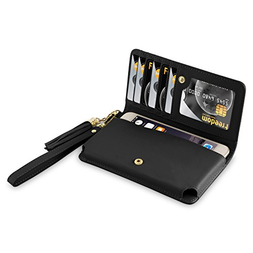 Universale Smartphone Handytasche, JAMMYLIZARD Damen Börse / Etui mit Charm und Handschlaufe für Smartphones bis zu 5.5 Zoll, (Mädchen Outfit Schule Günstige)
