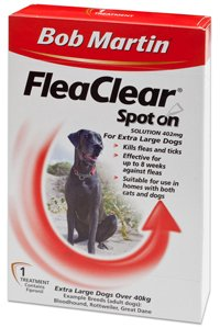 Bob Martin Flea Clear Fipronil Spot on 2 Tube for Extra Large Dog by Bob Martin
