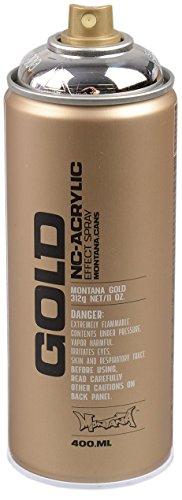 Montana Cans 285912 Spray Dose Gold, Gld400, M1000, 400 ml, silver Chrome