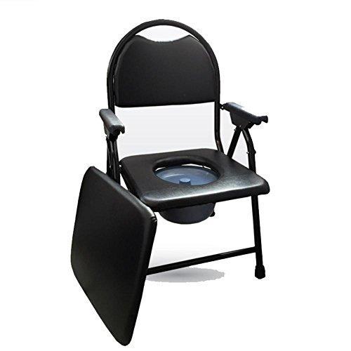 WAOBE Bewegen Sie die Toilette Klappstuhl Alter Mann sitzt auf dem Stuhl Behinderte Person kann falten Toilettensitz Bad Stuhl schwangere Frau bewegen WC