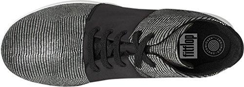 FitFlop™ Sportlich-Pop X High - Top Sneaker Eidechse Schwarz Schwarz