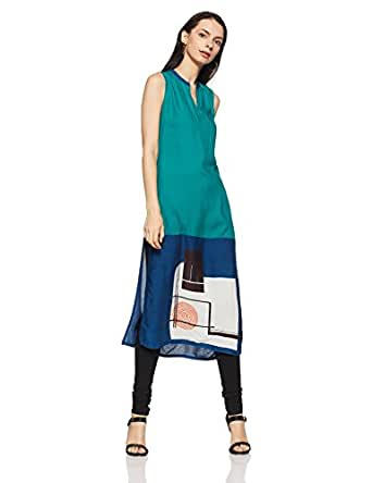 Rangmanch by Pantaloons Women's Straight Fit Kurta (110035458_Brown_X-Small)