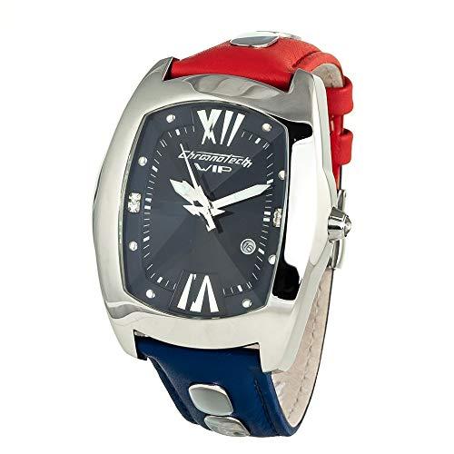 Chronotech orologio analogico quarzo uomo con cinturino in pelle ct7820j-03