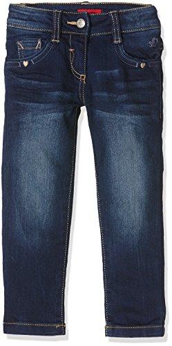 s.Oliver Mädchen Jeanshose 54.899.71.0446, Blau (Blue Denim Stretch 57Z2), 140 (Herstellergröße: 140/SLIM) (5-pocket-jeans Verziert,)