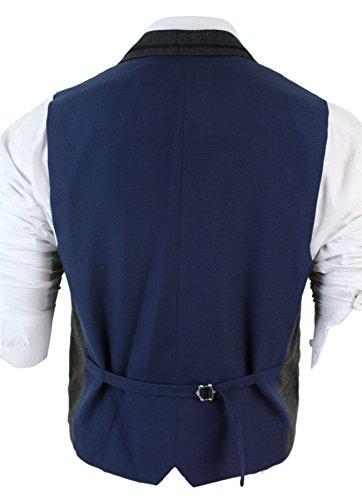Veste gilet hommes Rétro vintage héritage marron clair gris coupe tailored carreaux Gris