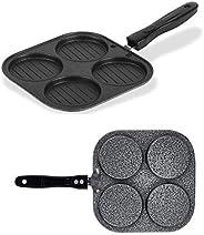 HOMEST Classic Grill Mini UTTAPAM TAWA/Multi Snack Maker 4 in 1 - Mini Pancake Maker, Mini Crepe PAN, Pancake