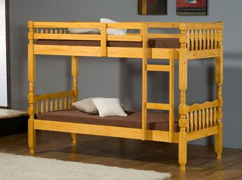 Milano Single 3'0 Ft Pine Bunk Bed (With 2 Single