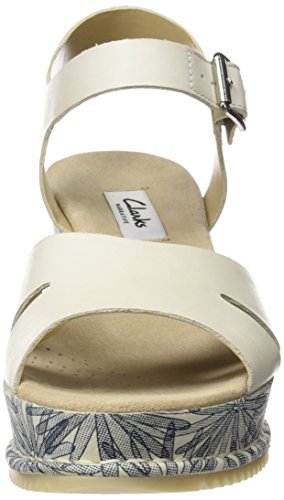 Clarks Damen Akilah Eden Slingback, Weiß (White Leather), 36 EU -