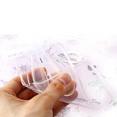 BPS Access Solutions Échafaudage d'oreille lapin avec sangle Coque souple en TPU Transparent Invisible Téléphone portable Housse étui en GEL Silicone pour iPhone 5et iPhone 5s–