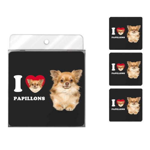 tree-free-greetings-nc39095-i-heart-papillons-4-pack-artful-coaster-set-tan