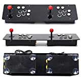 Dailyinshop Ergonomic Design Double Arcade Stick Video Game Joystick Controller Gamepad