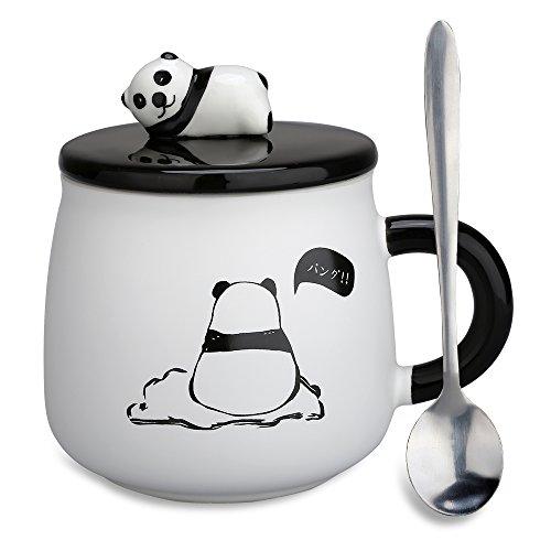 confronta il prezzo Tazza in ceramica, con Panda 3D, per compleanni, regalo di Natale, da caffè e tè, con coperchio e cucchiaio per amici speciali, mamma, fidanzata e bambini Panda Mug-lonly miglior prezzo