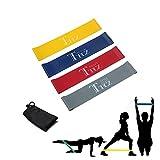 Fitnessbänder BestTrendy Gymnastikbänder Set Resistance Band 4 verschiedene Widerstandsbänder