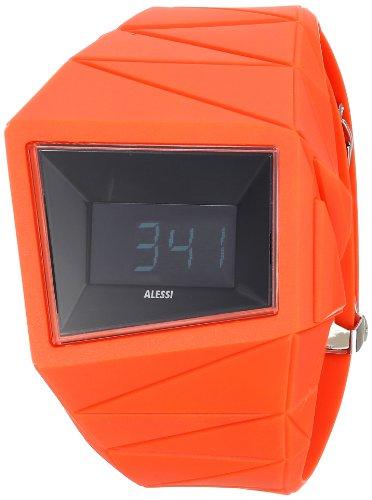 Alessi AL22001 - Reloj digital unisex, correa de plástico color rojo