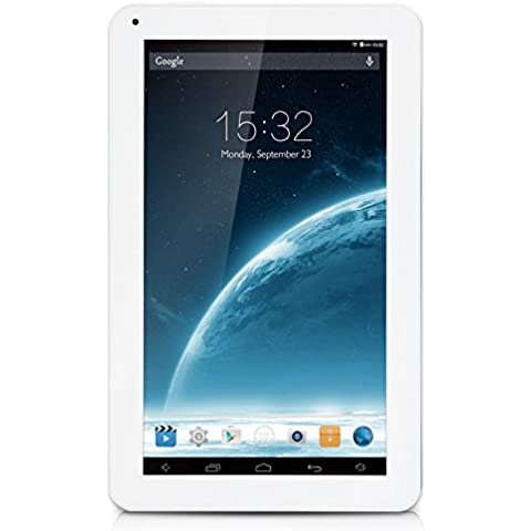 iRULU eXpro X1s - Tablet 10.1 pulgadas, Google Andorid 5.1 Lollipop, procesador de cuatro núcleos, 16GB Nand Flash, resolución 1024x600 HD, Color Blanco