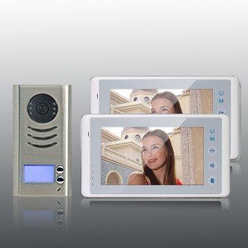 Preisvergleich Produktbild Farb-Video-Türsprechanlage in 2-Draht-Technik für 2-Familienhaus