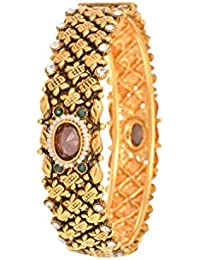 JFL - Antique And Ethnic One Gram Gold Plated Designer Kada For Girl And Women (Openable)