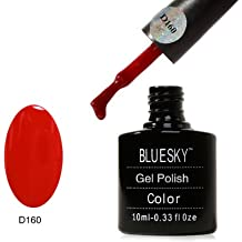 Bluesky Shellac UV/LED soak off gel 160 Pillar Box Red