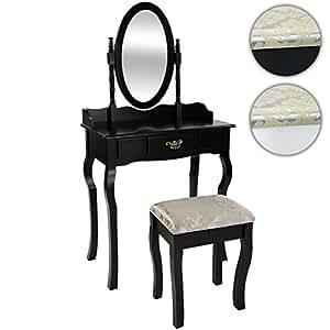 Miadomodo elegante mobile toletta coiffeuse con sgabello specchio cosmetico tavolo in 2 - Toletta con specchio ...