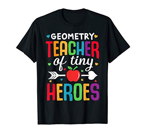 Geometrielehrer zurück zum ersten Schultag Tiny Heroes 1st T-Shirt