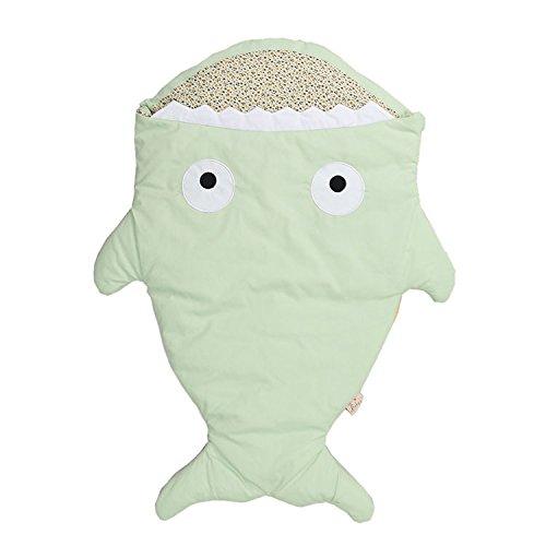 Lemonda Baby Schlafsack Neugeboren Hai Cartoon Winter-Einschlagdecke Fusssack für Babyschale, Autositz, Buggy (5)