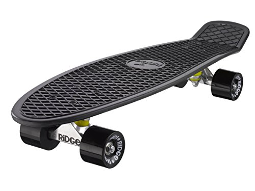 Ridge 27' Big Brother Retro Cruiser Skateboard, Nero/Nero