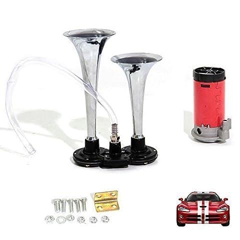 Nestling®105DB Super Loud 12V Single Trumpet Air Horn Compressor Truck