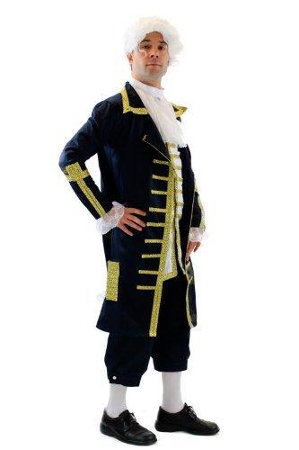DRESS ME UP Blauer Baron: Hochwertiges Kostüm Herrenkostüm Barock Mozart Edelmann Adliger König L075 Gr. 56 / ()
