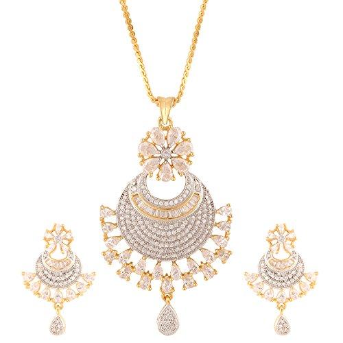 swasti-jewels-pfau-geformte-cz-zirkon-fashion-schmuck-set-anhanger-ohrringe-fur-frauen-weiss