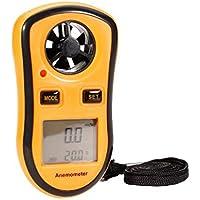 UEETEK GM8908 Pantalla LCD portátil Anemómetro digital Velocidad del viento Medidor de medición de la temperatura