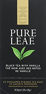 Pure Leaf Thé Noir aux Notes de Vanille 25 Sachets Pyramides - Lot de 2