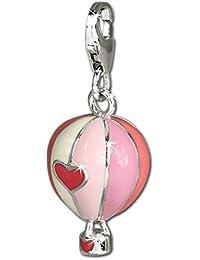 SilberDream exclusive Charms - Charm montgolfière en argent pour charms colliers et bracelets - Argent 925 Sterling - FC672