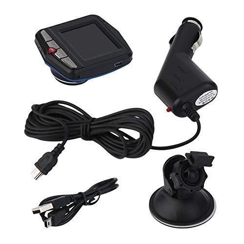HoganeyVan Driving Recorder/Car Video Recorder Portable 2.4 inch LCD Car Camera DVR 720P Resolution Vehicle Video Recorder Dash Camera Driving Recorder Black -