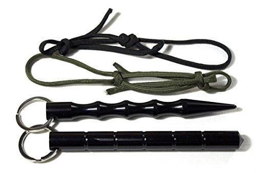 DYD 2x Kubotan (Doppelpack) zur Selbstverteidigung mit Schlüsselring und extrem reißfeste Fallschirmschnur, auch als Notfallhammer zu verwenden, 100{c45cf7ad437f17db818769b6381626c247708fc17a04668990384d7a1fdd8c1a} legal/ 2 Stück ! (Doppelpack) Kubotan In 2 Verschiedenen Formen Und Farben / Druckverstärker Zur Selbstverteidigung Als Schlüsselanhänger Mit Notfallhammer mit Schlüsselring und extrem reißfeste Fallschirmschnur (Schwarz)
