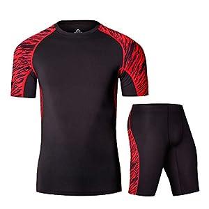 Z-Pertbil U Herren Laufset Sportswear Fitnesstraining Kompression Shorts Bekleidung Sportanzug
