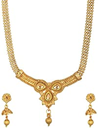 Reeti Fashions Gold Metal Chain Necklace Set For Women (RF17_10B_53)