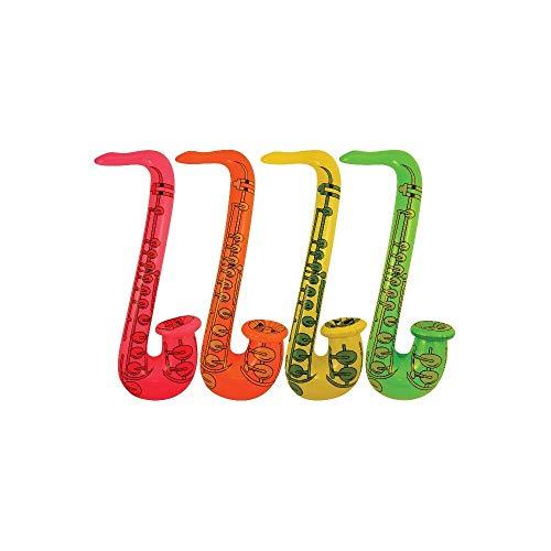 Saxophon 55cm Blow Up Party Musikalisches Musikinstrument ()