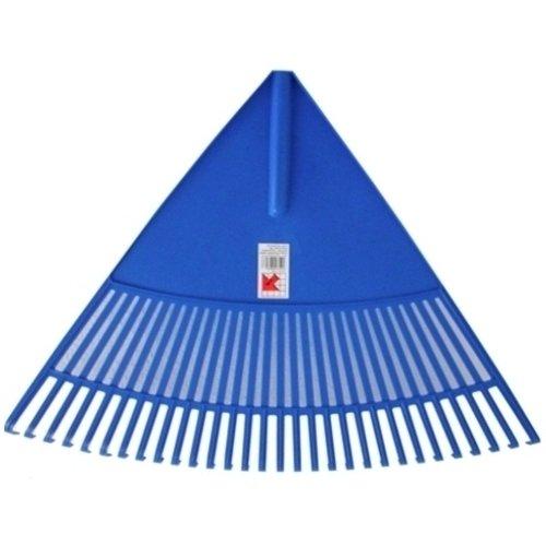Jumbo-Laubbesen-Laubrechen-Fcherbesen-blau-30-Zinken-mit-Holzstiel-Riesenrechen-Rechen