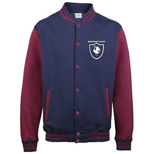 Bletchley Rugby Klub Erwachsene/Junior Uni Jacke - Oxford marineblau Burgund, 7/8yrs 30