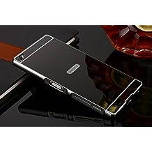 Funda Sony Xperia Z5 Compact , Carcasa Trasera Xperia Z5 Compact Aluminio y PC Efecto Espejo Funda Sony Xperia Z5 Compact Marco Bumper