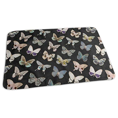 Voxpkrs Changing Pad Vintage Beautiful Butterfly Baby Diaper Urine Pad Mat Hot Boys Mattress Sheet Protector Sheet for Any Places for Home Travel Bed Play Stroller Crib Car