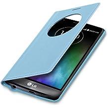 kwmobile Funda potectora práctica y chic con tapicería de cuero sintético FLIP COVER para LG G3 S D722V en azul