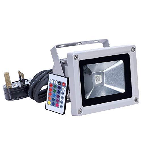 Flutlicht 10W LED RGB 900LM 16 Farbwechsel LED Sicherheitslicht für Weihnachten, Hochzeit, Garten, Indoor & Outdoor Landschaftslampe -