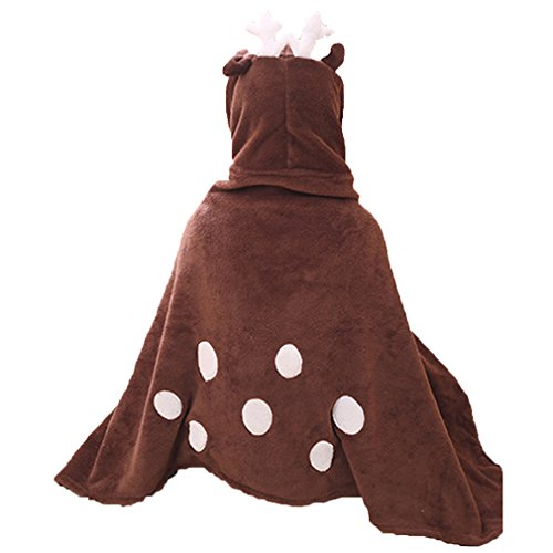LATH.PIN Unisex Cape Anime Cosplay Poncho Cloak Tier Kostüm Halloween Fasching Cartoon Kostüm (One Size, Rentier)