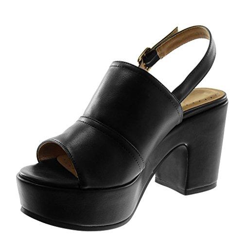 117e77b7c060ff ... Hauteur du talon: 8.5 cm. Angkorly Chaussures Mode Mules Sandales Avec  Bride À La Cheville Femmes Wedges Tanga Boucle Bloc Haut ...