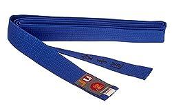Budogürtel blau mit Bestickung Karate (japanisches Kanji)