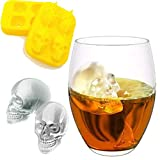 MAYOGO Eiswürfel Schädel Form Schimmel,Schädel Form 3D Eiswürfelform Maker Bar Party Silikon Tabletts Schokoladenform Geschenk