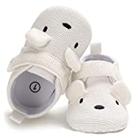 Sabe Infant Baby Warm Fleece Booties Cute Soft Sole Slippers Boys Girls Pram Shoes First Birthday Gift Ac-white 6-12 Months